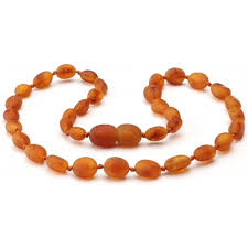 jewelry amber necklace images Raw cognac bean baltic amber teething necklace jpg