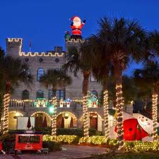 st augustine lights tour st augustine nights of lights holiday vacation package bayfront