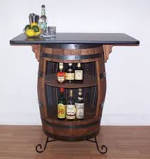 whiskey barrel bar table white oak whiskey barrel bar table cabinet with wrought iron stand