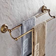 leyden wall mount antique brass material double towel bars racks