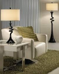terrific floor lamp for living room using drum fabric light shades