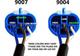 9007 headlight wiring diagram 9004 bulb vs 9007 wiring diagrams