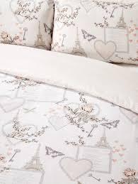 romantic hearts paris bedding twin full queen duvet cover