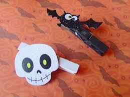 Decorative Clothespins Halloween Themed Decorative Clothespins Bat U0026 Skull Decor
