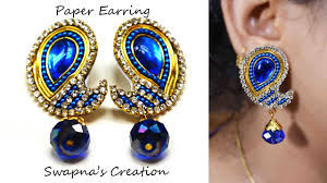 honey singh earrings how to make paper earrings jewelry diy made up of paper