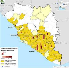 west africa map ebola areas where ebola occurs rivm