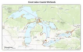 Map Of Lake Superior Where Are Great Lakes Coastal Wetlands Great Lakes Monitoring