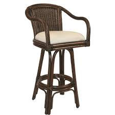 eccentric wicker bar stool with back adorned for indoor kitchen