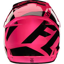 motocross helmets youth fox racing 2017 girls mx new v1 race black pink youth dirt bike