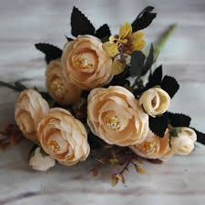 Artificial Flowers Home Decor by Home Craft Gift Floral Silk Flowers Party Bridal Rose Decor