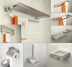 Modern Bathroom Accessories Sets Sandblast Modern Bathroom Hardware Sets Spray Aluminum Solid