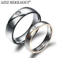 wedding rings with names aliexpress buy rings engrave name wedding rings for