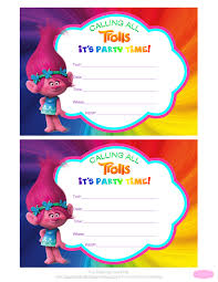trolls invitations jpg 5100 6600 cumple isa pinterest