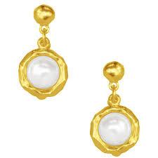 drop earrings gold jeanne pearl drop earring in silver karine sultan official website