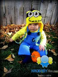 Baby Minion Costume Newborn Crochet Gorro Despicable Me Minion Hat Suspender