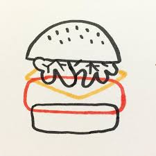 25 beautiful burger drawing ideas on pinterest hamburger