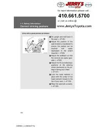 2012 toyota sienna safety information