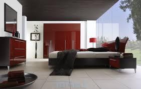 Cream And Red Bedroom Ideas Red And Black Bedroom 2 Doors Marble Tile Floor Recessed