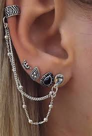 earring on ear drusilla ear cuff 3 earring set ear cuff earrings ear