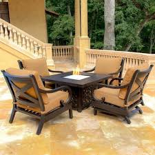 Patio Set With Firepit Table by Patio Furniture With Fire Pit Table New Interior Exterior Design