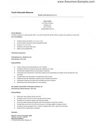 Sample Of Social Worker Resume by Youth Resume Examples U2013 Resume Examples