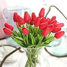 wedding flowers gift 10pcs lot high quality pu stunning mini tulip