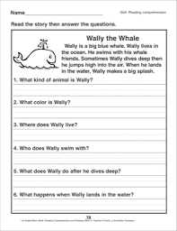 1st grade reading comprehension worksheets worksheets