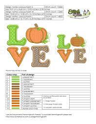 pumpkin applique embroidery design cute halloween or thanksgiving