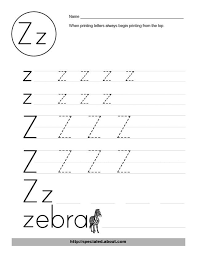 free worksheet activities for the letter z free worksheets