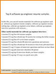 qa engineer resume qa resume 8 best resume format ideas on