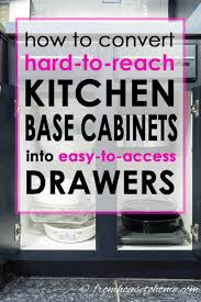 how to turn a base cabinet into a kitchen island how to convert base cabinet shelves to drawers cabinet