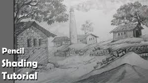 how to draw a village scenery with pencil brick kiln epi 3