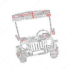 philippine jeep clipart philippine jeepney typography u2014 stock photo avezadesign 110314788