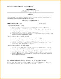 resume sample for ojt hotel and restaurant management hospitality
