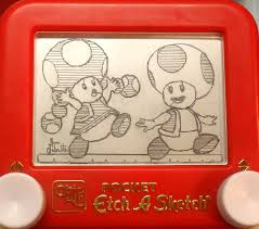 toad toadette etch a sketch by pikajane on deviantart