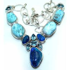opal stone silver necklace images Destiny sterling silver larimar necklace 925 sterling silver jpg