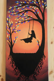 home decor paintings for sale large art tree silhouette home decor wood wall decor tree