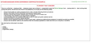 Kitchen Manager Resume Examples by Kitchen Manager Job Title Docs