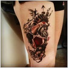 cute thigh tattoos design for women upper thigh tattoo