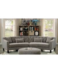 round sectional sofa deals on aretha contemporary grey tufted rounded sectional sofa by
