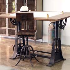 Vintage Home Office Furniture Industrial Style Drafting Desks Eclectic Home Office Los