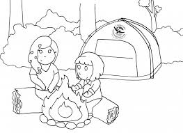 camping coloring pages coloringsuite