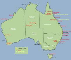 map of australia with cities and states map of major cities in australia major tourist