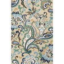 Paisley Area Rug Jaipur Rugs Barcelona Blue Taupe Paisley Indoor Outdoor Area Rug