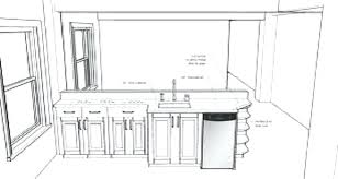 standard kitchen island dimensions kitchen island with sink dimension meetly co