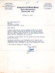 jack kemp invite letter to spiro agnew testimonial dinner