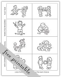 making good choices activity sheets activity choices coloring