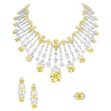 yellow diamonds necklace images Boghossian at the biennale des antiquaires fancy diamond and jpg