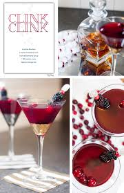 martini ginger blackberry bourbon martini red stamp