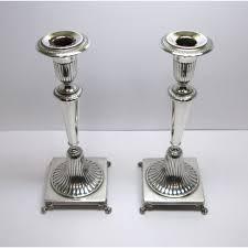 candelieri in argento due candelieri usati anni 30 40 in argento ad un fuoco a